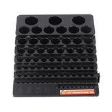 85 agujeros Taladro Almacenamiento de brocas Caja Sin Taladro Soporte de ahorro de espacio para fresas