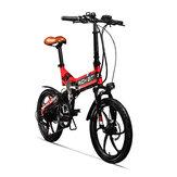 [Direto da UE] RICH BIT Bicicleta elétrica de ciclomotor dobrável TOP-730 48V 250W 8Ah 20inch 32 km / h Velocidade máxima 45-50 km Quilometragem Ciclismo ao ar livre Bicicleta elétrica de montanha