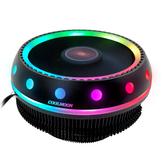 Coolmoon DC 12V 3Pin UFO Colorful Retroiluminación 100mm CPU Ventilador de refrigeración PC Disipador térmico para Intel / AMD para computadora PC Caso