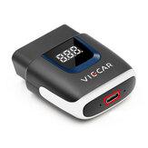 Viecar VP003 ELM327 V2.2 bluetooth 4.0 con Type C Interfaccia USB OBD2 EOBD Strumento diagnostico per auto OBD II Lettore di codice automatico per Android / IOS USB OBD