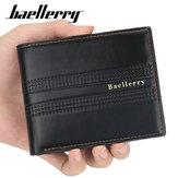 Baellerry Men Kunstleder Mode Business Casual Geldbörse mit 6 Kartenfächern