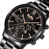 VAVAVOOMVA-2142Dataimpermeável relógio de quartzo
