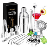 22PCS/Set Cocktail Shaker Boston Maker Bartender Martini Mixer Making Tool Bar Tools