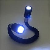 Ajustável 24 LED Pescoço Flexível Abraço Luz Livro Leitura Lâmpada Noite Mãos-Livres