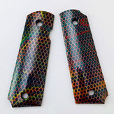 1911 Grip Patch Colorful Honeycomb Resin Tactical Handle Patch