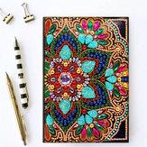 DIY Diamant Schilderen Borduurwerk Notebook A5 Notepad Eenhoorn Vlinder Bloem Sneeuw Man Ontwerp Speciale Vormige Hand Verf Lederen Cover Kruissteek Kerstcadeaus Voor Vrienden