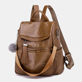 Women Anti-Theft Backpack Multifunctional Bag Tassel Zipper