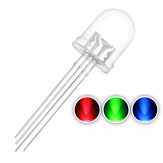 50PCS 10mm 4PIN Common Anode 20mA RGB LED Diode Light Transparent Round Light-Emitting Lamp