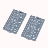 2Pcs Battery Back Cover for MDS8207 Digital Oscilloscope Battery Compartment Cover