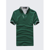 Solid Color Classic Color Splicing Collar Golf Shirt