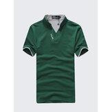 SolidColorClassicColorSplicingCollar GolfShirt
