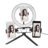 8,7 / 12,6-inch LED video-ringlicht met standaard 3 telefoonhouder Dimbare lamp Make-up Youtube