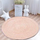 Décorations modernes de salon à la maison de tapis rond de tapis de tapis de plancher de glissement non pliable