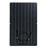 Kit de panneau solaire flexible 80W Chargeur de voiture de camping-car monocristallin étanche Batterie
