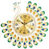 Parede do pavão Relógio Estilo europeu Personalidade da sala de estar Moda criativa Relógio