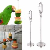 12/20Cm Stainless Steel Small Parrot Toys Kabob Food Stick Scooter Fruit