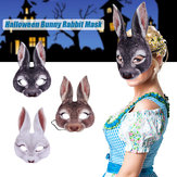 3Type Halloween Rabbit Bunny Long Ears Mask Handmade Animal Decorations Mask 3D Carnival  Women Girl Mask Party Cosplay Rabbit Easter Bunny Costume Cosplay Party Mardi Gras