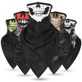 Protège-soleil Skull Ice Soie Masque facial écharpe respirante à usages multiples Tête de moto