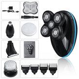 5-in-1 roterende 5-kops elektrisch scheerapparaat USB oplaadbare waterdichte natte en droge baardneushaartrimmer