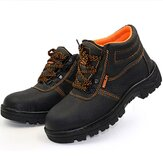 Unisex Çelik Burunlu Ayakkabı Güvenlik Kaymaz Su Geçirmez Kaymaz İş Ayakkabıları