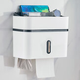 Bathroom Tissue Hand Paper Dispenser Holder Wall Mounted Tissue Box Not Drill