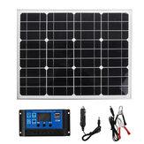 18 V 40 W Monokristal Silikon Alüminyum Çerçeve Solar Panel + Solar Denetleyici + Kablolar Kit