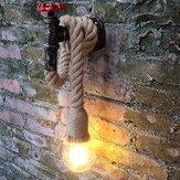 خمر الصناعية أنابيب المياه الجدار مصباح الشمعدان حبل القنب قلادة ضوء تركيبات