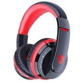 MX666 Dobrável Sem Fio Gaming Headphone bluetooth Over-ear Handsfree Headset Ajustável com Suporte de Microfone FM TF