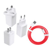 Oneplus 7 / 6T / 6 / 5T / 5 / 3T / 3 6 Dash 5V / 4A Travel Wall Power Adapter Snelle oplader + USB-C kabel