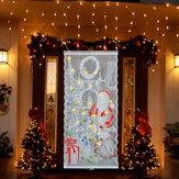 Рождество Светодиодный до кружева оконные шторы дверная ткань Xmas Party Decor 40x84 ''