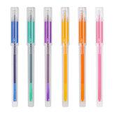 ديلي A125 6 قطعة / صندوق إبرة ملونة كاملة جل القلم 0.5 ملليمتر توقيع القلم رسم القلم 6 ألوان