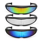 Party Brille Neuheit Futuristic Cyclops Mirrored Sonnenbrille Monoblock Alien