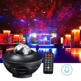 Multicolor Rotating LED Projector Lamp Star Night Light Music bluetooth with Remote Controller