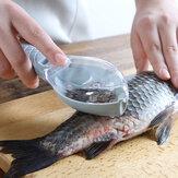 أداة إزالة قشور السمك مع غطاء مكشطة مقياس مطبخ كتيب