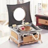 Klassische rotierende Mädchen Spieluhr Schmuck Aufbewahrungsbox & Kosmetikspiegel Kinder Dekorationen