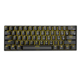 Royal Kludge RK61 Bluetooth Bedraad Dual Mode 60% Golden / Ice Blue Backlit mechanisch gamingtoetsenbord