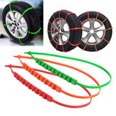 Universal Car Snow Chain Thickened Tendon Truck Wheel Tire Anti-skid Antiskid Safety Belt Safe Driving Orange/Green/Red For Ice Sand Muddy Offroad