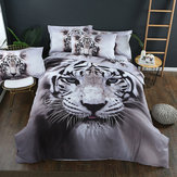 Roupa de cama de tigre Conjunto de cama com estampa de animais Colcha Capa de edredon Fronha Conjuntos de cama