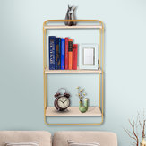 Metal Storage Shelf Simple Display Holder Wall-Mounted Rack Book Organiser Home Decorations