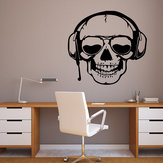 Miico FX3003 Etiqueta de dibujos animados Etiqueta de la pared Etiqueta de Halloween Etiqueta de la pared removible Decoración de la habitación - Cráneo