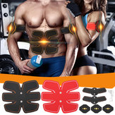 Estimulador Muscular do Braço Abdominal Unisex Cinto EMS Training Body Exercise Trainer Toner ABS Aptidão Set