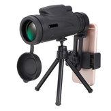 Увеличение 50x60 HD BAK4 Крыша Prism 1500M / 9500M Портативный монокуляр телескоп + штатив + телефонный зажим