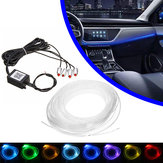 4/5 In 1 LED RGB Autodekoration Atmosphärenlichter Bluetooth Control Interior Ambient Optical Fiber Lights Lampe