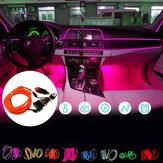 DC12V 5M Flexible Neon EL Wire LED Strip Light Car Interior DecorationLamp + Driver