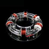 6 Coil Ring Accelerator Digital Magnetic Levitation Cyclotron High-tech Physics Model Diy Kit Kids Toys Gift