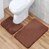 2 STUKS Antislip Toiletdekens Badmatenset Baddouche Badkamer Vloer Tapijt