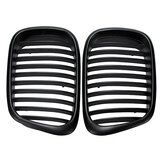 Pair Front Grille Grill Black for BMW E39 5 Series M5 1997-2003