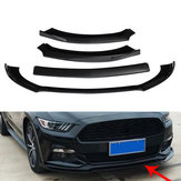 For Ford Mustang 2015-2017 Gloss Black Car Front Bumper Under Diffuser Protector Shovel Lip Spoiler Kits