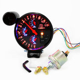 5 Inch 4 in 1 Toerenteller Toerenteller Shift Licht Druk Water Temp Gauge