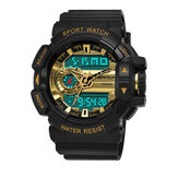 SANDA 599 Luminous Display Candar Stopwatch Men Fashion Sport Watch Dual Disaplay Digital Watch